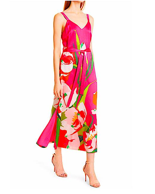 Item - Pink with Tag Urban Tie Waist Midi Mid-length Cocktail Dress Size 6 (S)
