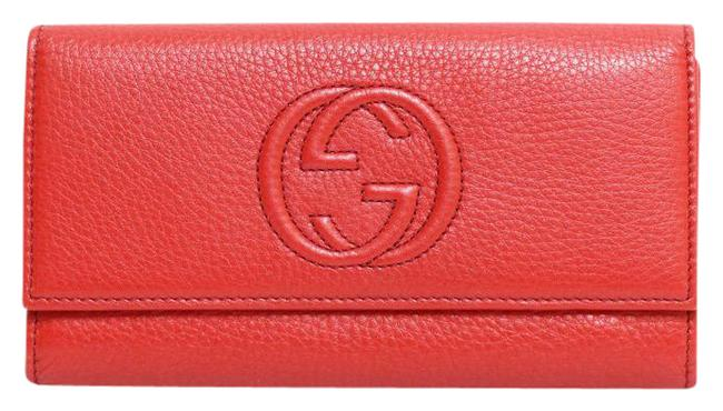 Item - Red Color Soho Gg Ladies Leather Wallet