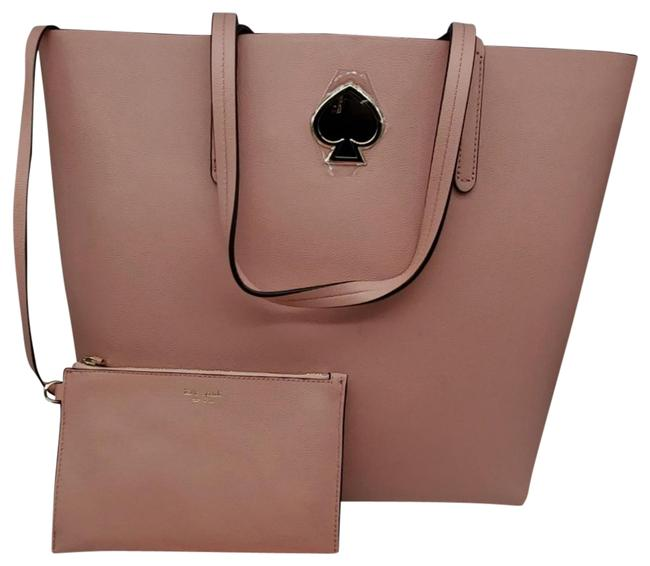 Item - Suzy Large North South Cosmetic Pink Leather Tote