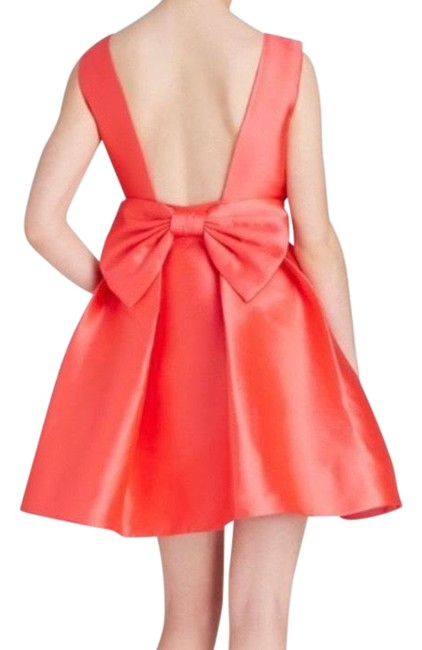 Item - Pink Fancy Meeting You Bow Open Back Short Cocktail Dress Size 8 (M)