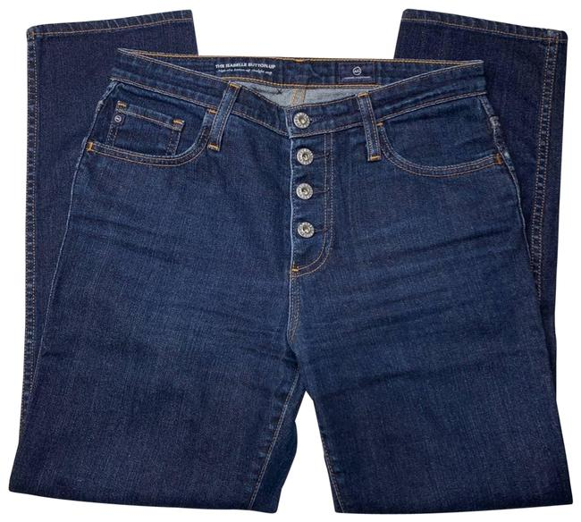 Item - Blue The Isabelle Button Up Crop Straight Leg Jeans Size 28 (4, S)