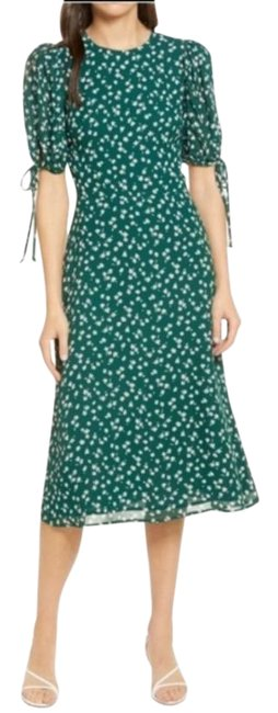 Item - Green Fairway Floral Midi Mid-length Casual Maxi Dress Size 6 (S)
