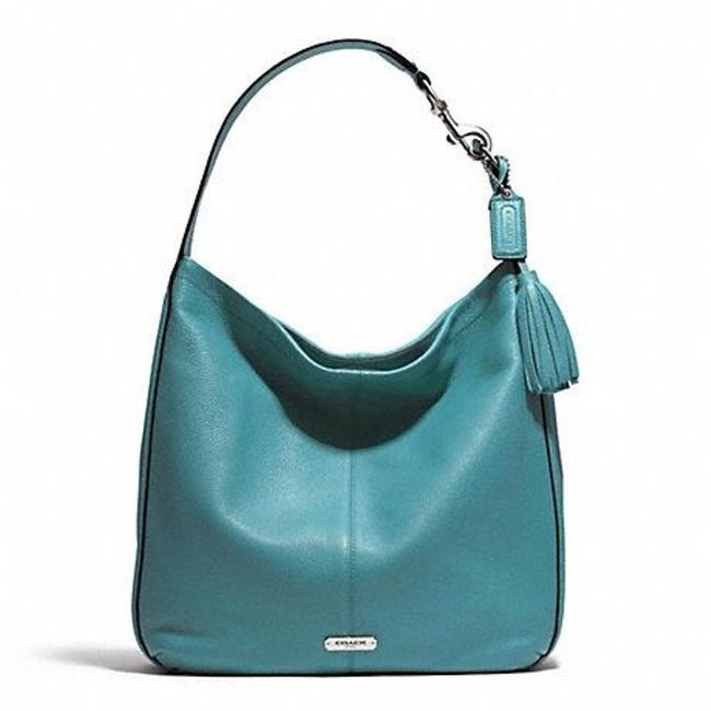 Item - Pebbled Avery Silver Mineral Leather Hobo Bag