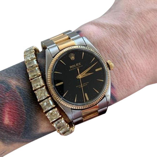 Item - Yellow Black Oyster 18k Gold and Stainless Steel Watch