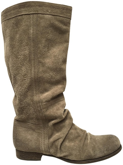 Item - Grey Brown Ruched Suede Boots/Booties Size EU 40 (Approx. US 10) Regular (M, B)