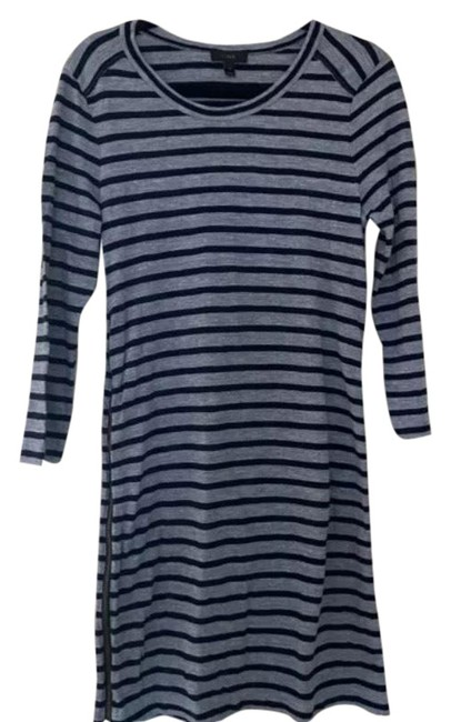 Item - Light and Dark Blue Mid-length Short Casual Dress Size 4 (S)