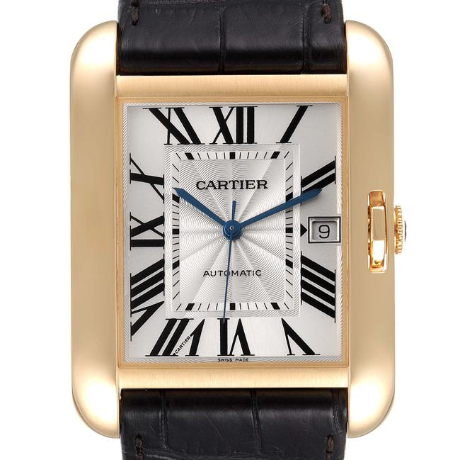 Item - Silver XL Tank Anglaise Yellow Gold Mens W5310032 Watch