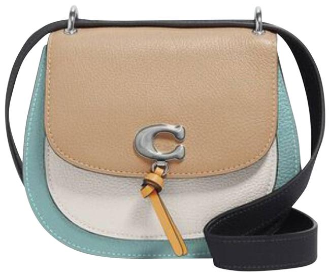 Item - Saddle New Remi In Colorblock Purse Blue Leather Cross Body Bag