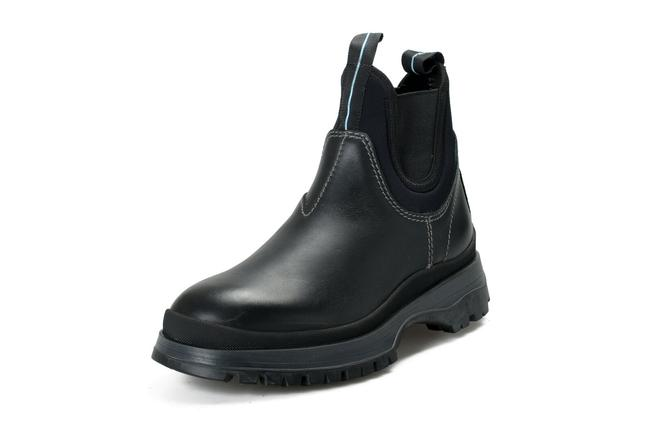 """Item - Black Men's """"4t3338"""" Leather Chelsea Ankle Boots/Booties Size US 8 Regular (M, B)"""