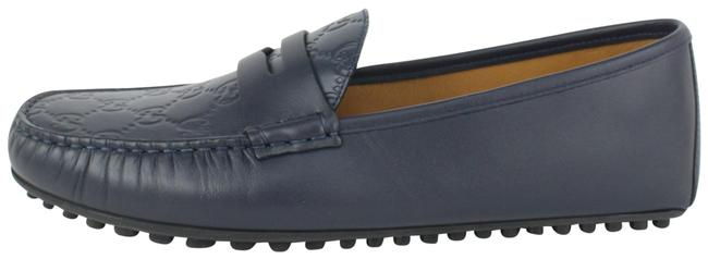 Item - Blue Men's Gg Leather ssima Driver 133ggs78 Formal Shoes Size US 9 Regular (M, B)