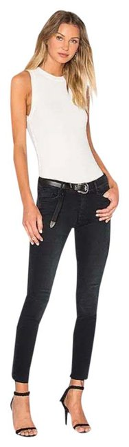 Item - Black/Navy Distressed The Looker Ankle Fray Skinny Jeans Size 4 (S, 27)