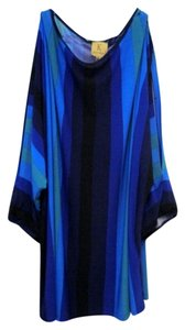 Kasper ASL Petite New W/ Out Tags Multi-color Split Sleeve Xl Top Blue Multi-Color