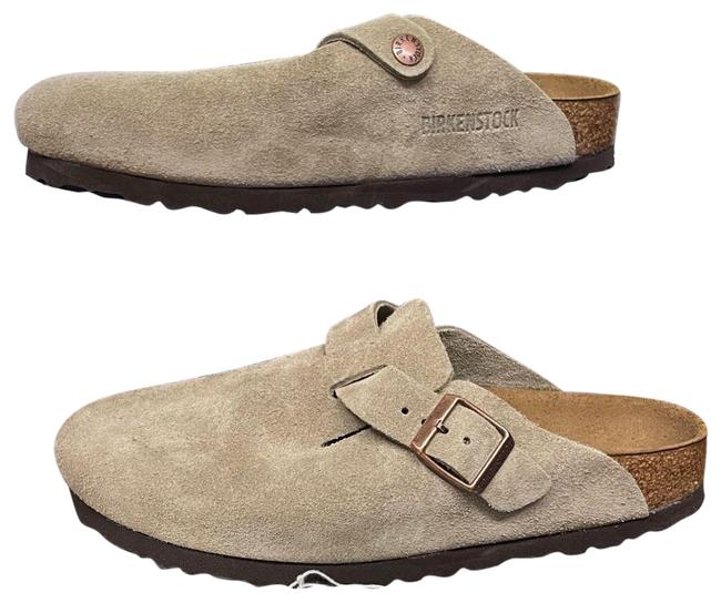 Item - Taupe W Boston Suede with Soft Footbed - - Unisex (W 7/M Mules/Slides Size US 7 Regular (M, B)
