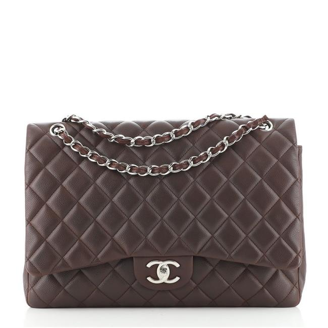 Item - Classic Flap Classic Double Quilted Caviar Maxi Red Leather Cross Body Bag