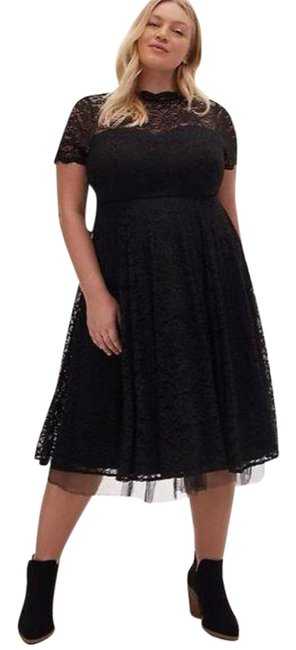 Item - Black Special Occasion Lace and Tulle Mid-length Night Out Dress Size 18 (XL, Plus 0x)