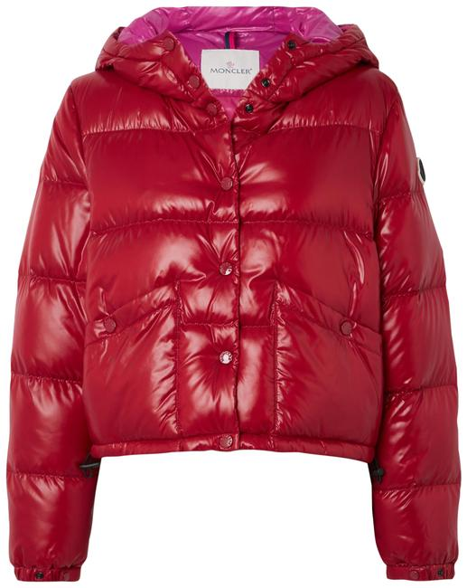 Item - Red Bardanette Hooded Quilted Shell Down Jacket Size 4 (S)