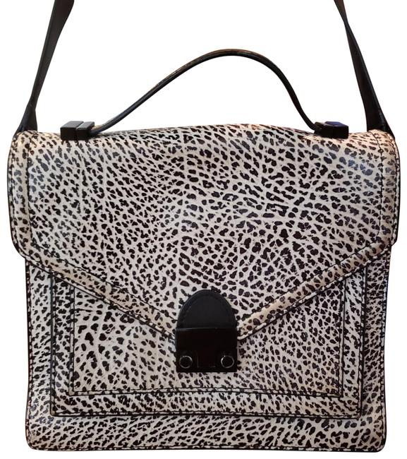 Item - Rare Great Condition Purse Black and White Spots Leather Shoulder Bag