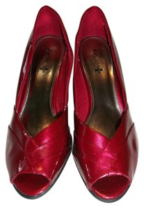 Air Supply Stylish Daring Sparkle Classy Comfortable Metallic Red Pumps