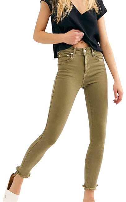 Item - Green High Waisted Jeggings In Army Skinny Jeans Size 00 (XXS, 24)