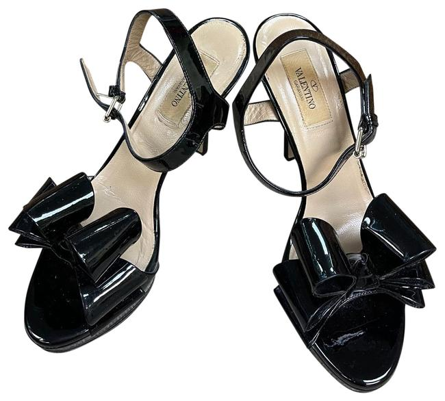 Item - Black Womens Patent Leather Bow Front High Heels Platforms Size EU 37 (Approx. US 7) Regular (M, B)