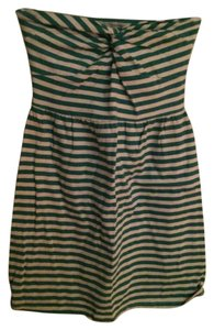 Charlotte Russe short dress Green and white Striped Stripes on Tradesy