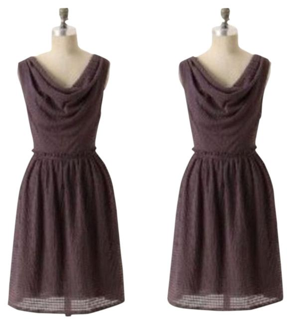 Anthropologie Vintage Draped Tea Length Textured Dress