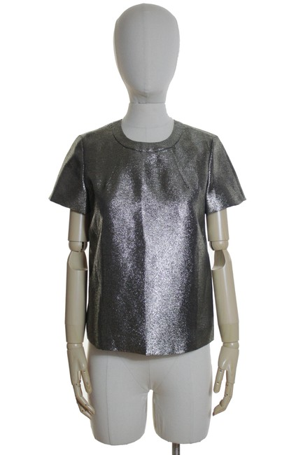 Item - Gold Shimmer Tee Blouse Size 2 (XS)