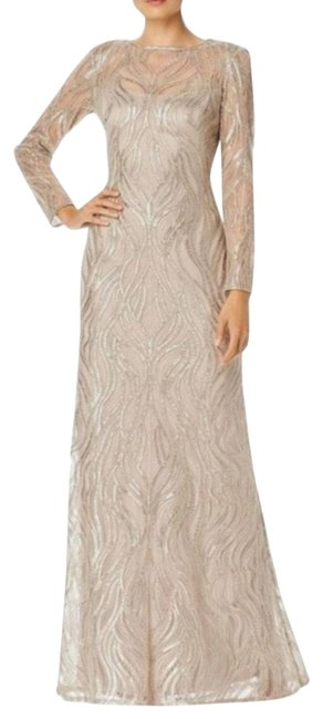Item - Sand Sequined Embroided In Long Formal Dress Size 8 (M)