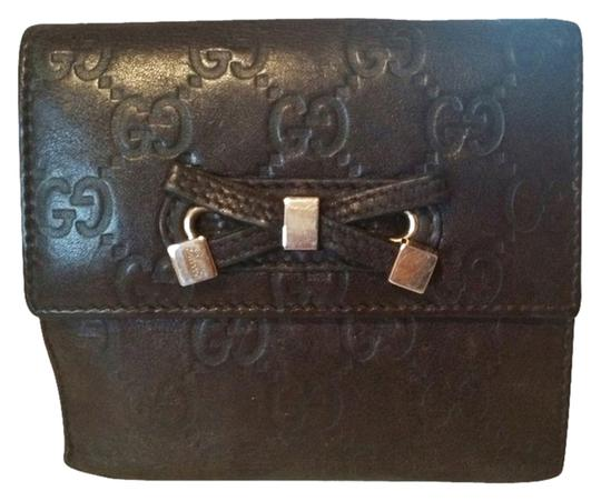 Gucci Gucci Brown Guccissima Leather Bow Wallet