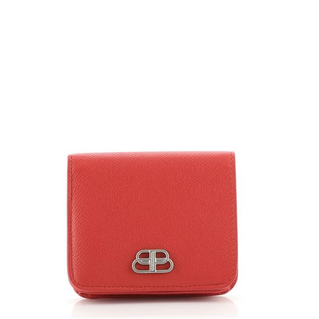 Item - Red Bb Flap Coin Leather Compact Wallet