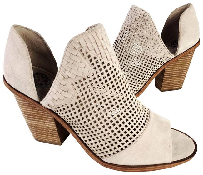 Item - Gray Fritzey Perforated Peep Taupe Suede Boots/Booties Size US 12 Regular (M, B)