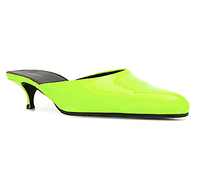 Item - Neon Round Mules/Slides Size EU 37 (Approx. US 7) Narrow (Aa, N)