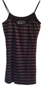 Striped Metallic Top Grey Black