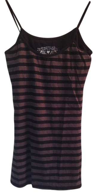 Other Striped Metallic Top Grey Black
