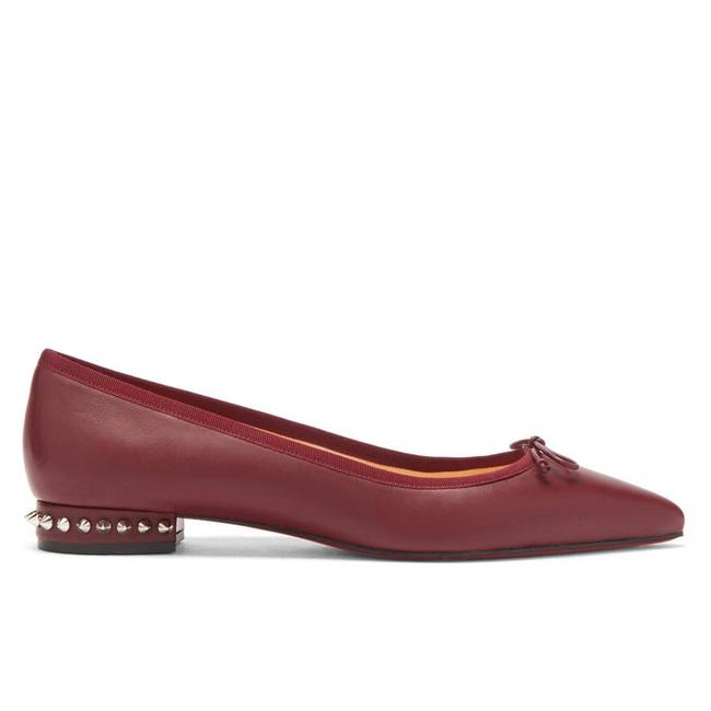 Item - Red Maroon Burgundy Hall Spike Leather Ballet Flats Size EU 41 (Approx. US 11) Regular (M, B)