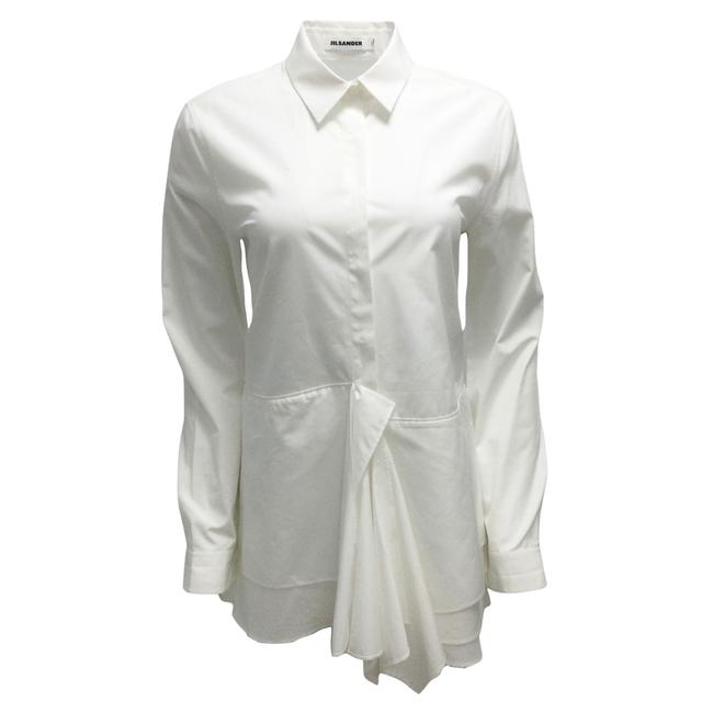 Item - White Layered Cotton Blouse Size 6 (S)