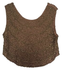 Hot & Delicious Top brown sequins