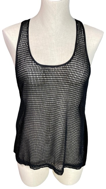 Item - Black Bette Shimmer Netted Tank Top/Cami Size 4 (S)