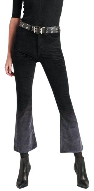 Item - Black / Grey *nwt* Holly Pants High Rise Crop Flare Leg Jeans Size 2 (XS, 26)