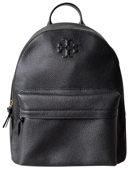 Item - Thea Pebbled Black Leather Backpack