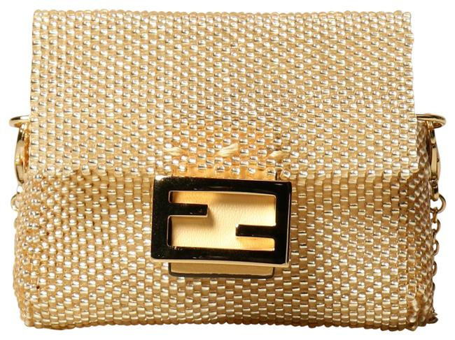 Item - Micro Beaded Chain Gold Baguette