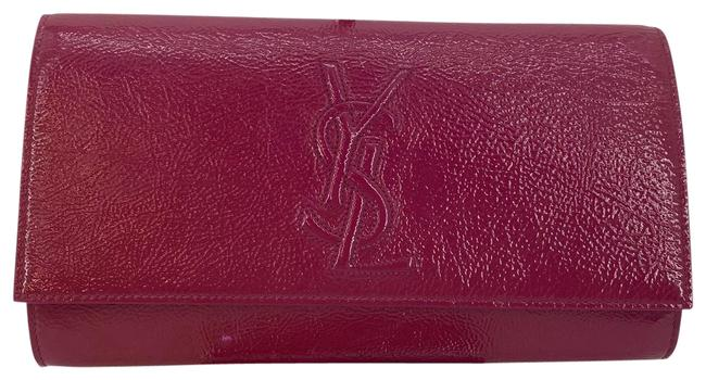 Item - Ysl Pink Patent Leather Clutch