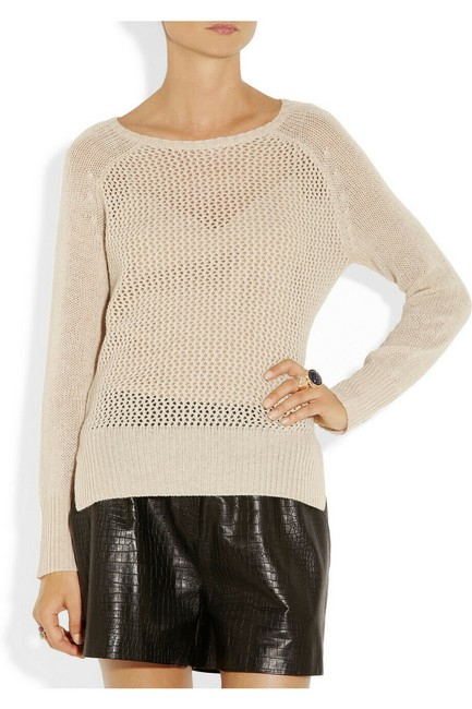 Item - Nwot Cashmere Open Knit Jumper 1 Or S Ivory Sweater