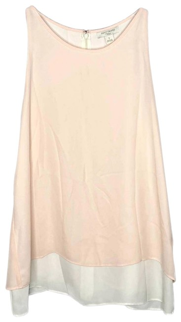 Item - Pink St Ivory Tiered Flyaway | S Tank Top/Cami Size 4 (S)