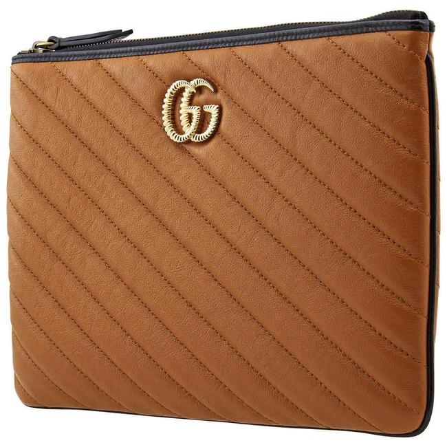 Item - Orange/Brown Marmont Gg Small Pouch Wallet