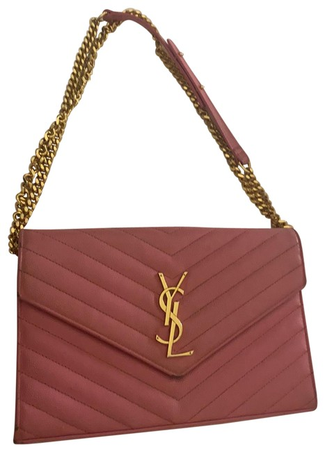 Item - Chain Ysl Pink Leather Cross Body Bag