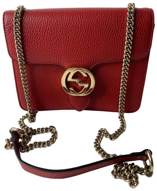 Item - Shoulder Small /Crossbody Red Leather Cross Body Bag