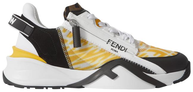 Item - White Printed Rubber and Neoprene-trimmed Leather Suede and Nylon Sneakers Size EU 39.5 (Approx. US 9.5) Regular (M, B)