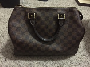 Louis Vuitton Satchel in Damier Ebene