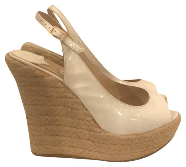 Item - White and Tan 7132-14 Wedges Size US 5 Narrow (Aa, N)